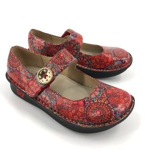 Alegria Paloma Red Bloom Mary Janes 36/6
